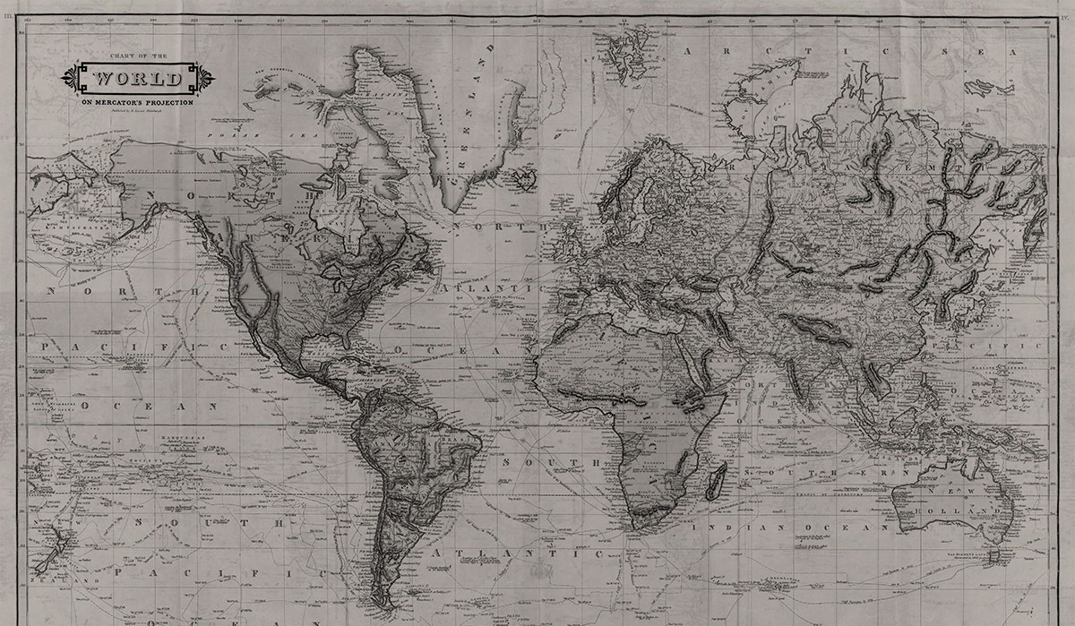 World Map by Daniel Lizars 1831